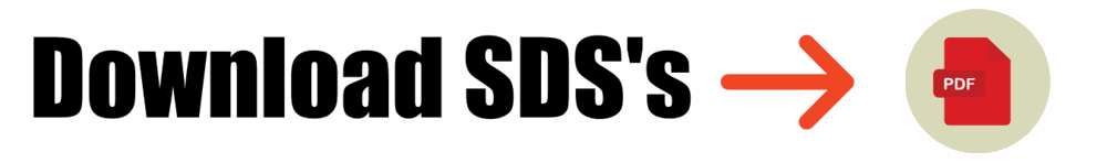 The word download SDS's with an arrow pointing to the right where a pdf logo is