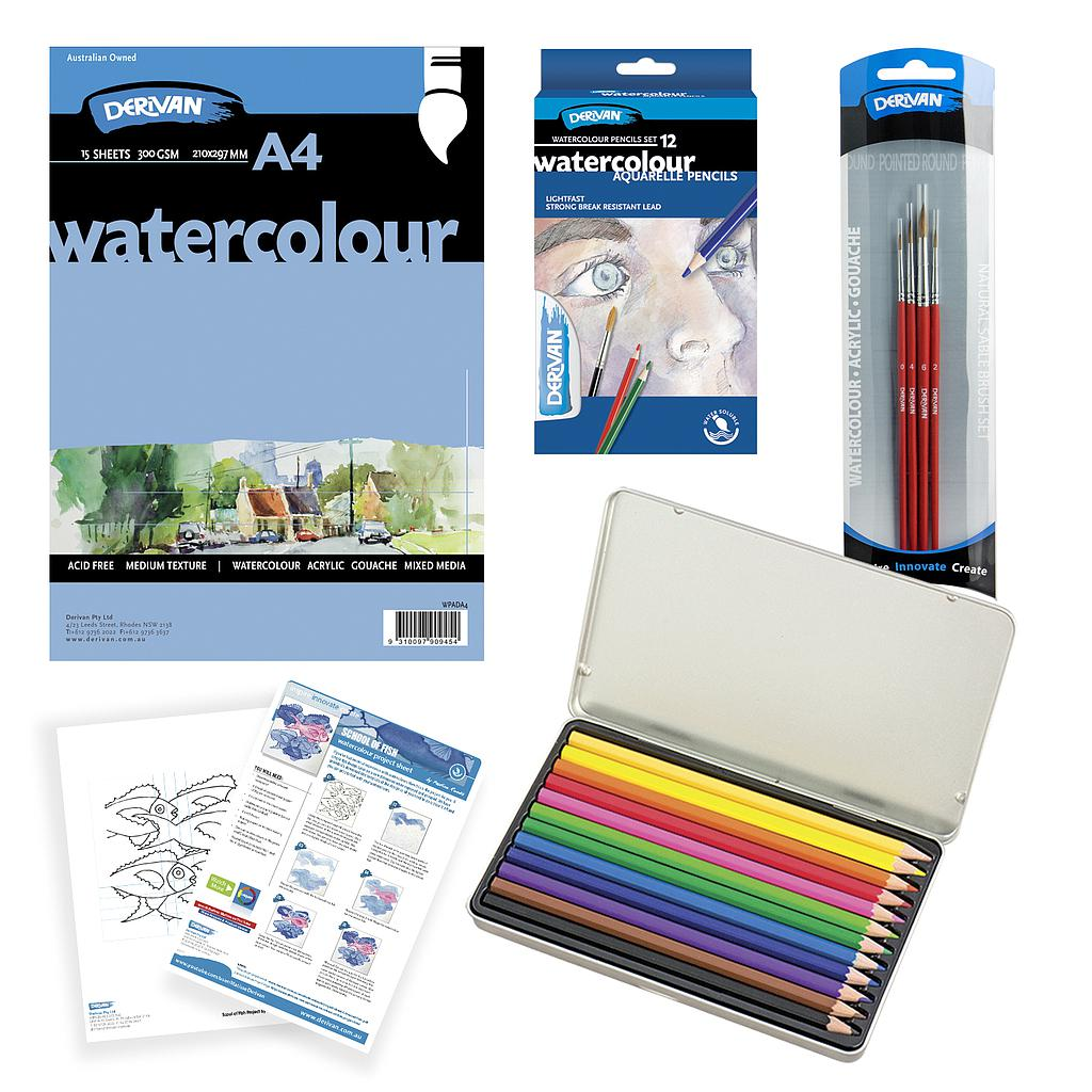 School of Fish Watercolour Pencil Set